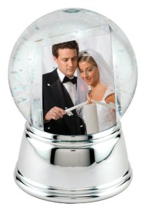 Valentines Day photo snow globe